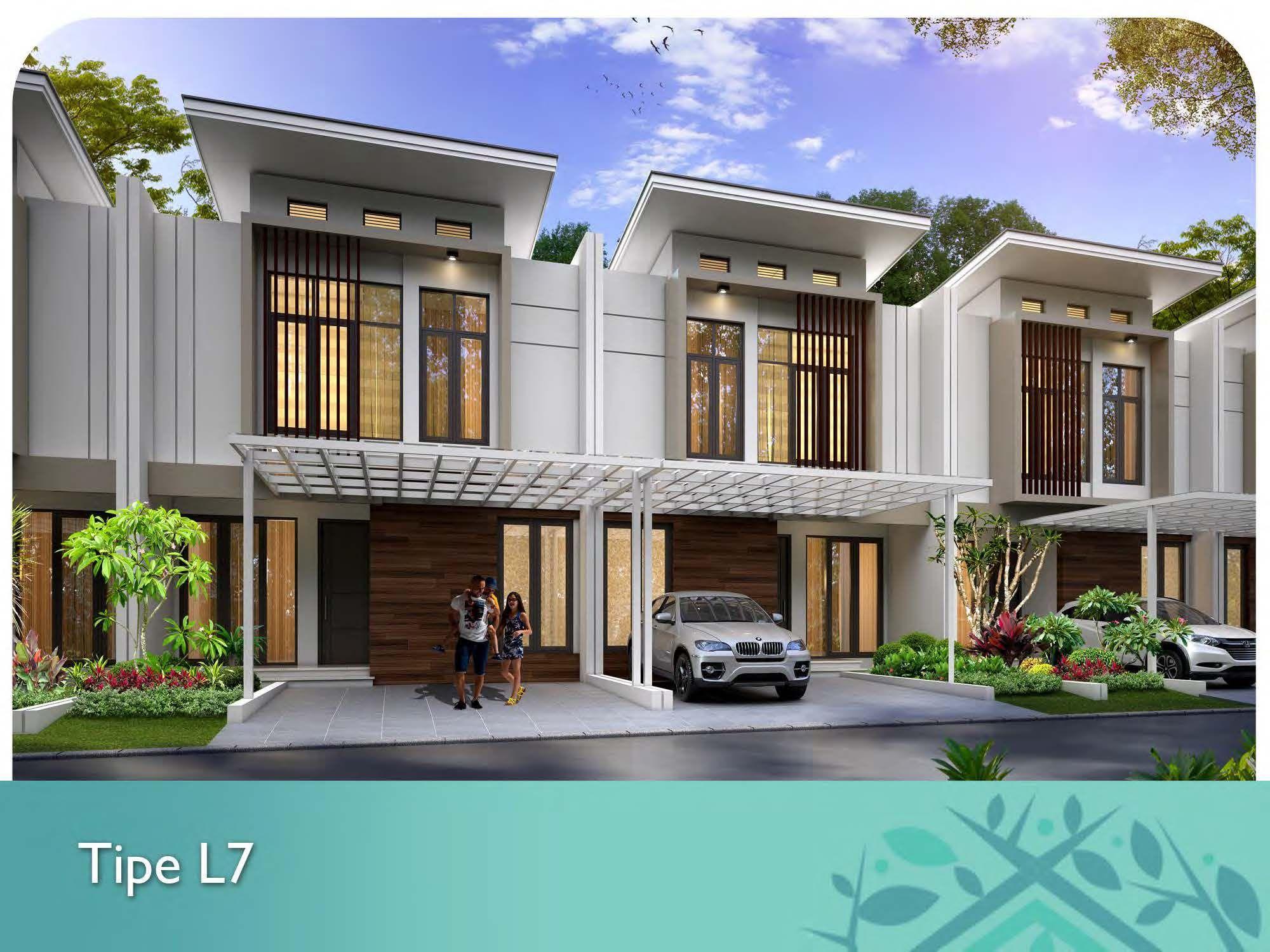 Tipe yang ditawarkan Rumah L6 6x15, LB=63m², 3+1 KT, 1