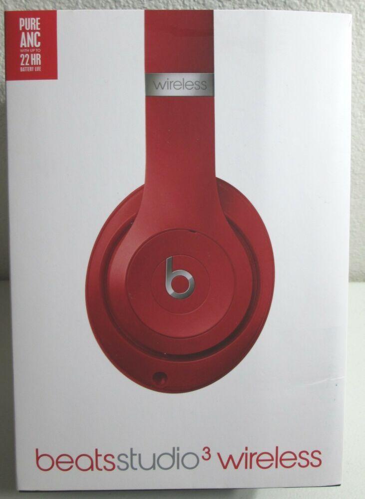 2f5e3fe8875 eBay #Sponsored Beats Studio Beatsstudio 3 Wireless Red Headphones  MQD02LL/A by dr.