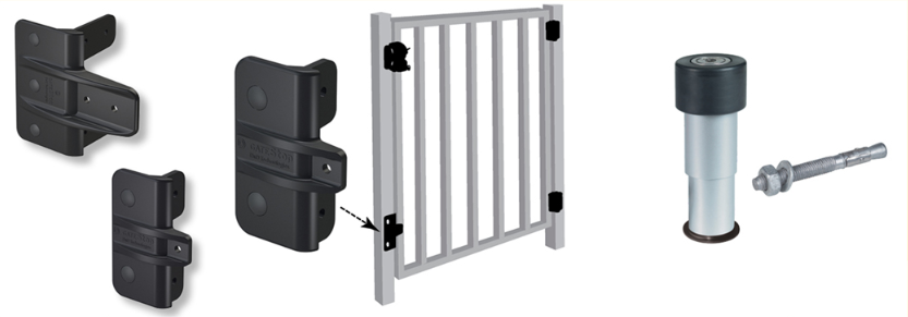 When You Swing The Gate And Walk Out Our Gate Stopper Ensures That The Gate Swings Back To The Closed Position Noiselessly S Metal Gates Gate Hardware Gate