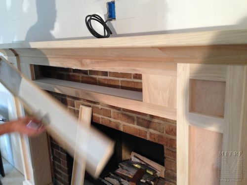 Mitre Contracting Inc Mantels Storage Fireplace Craftsman Fireplace Bungalow Decor