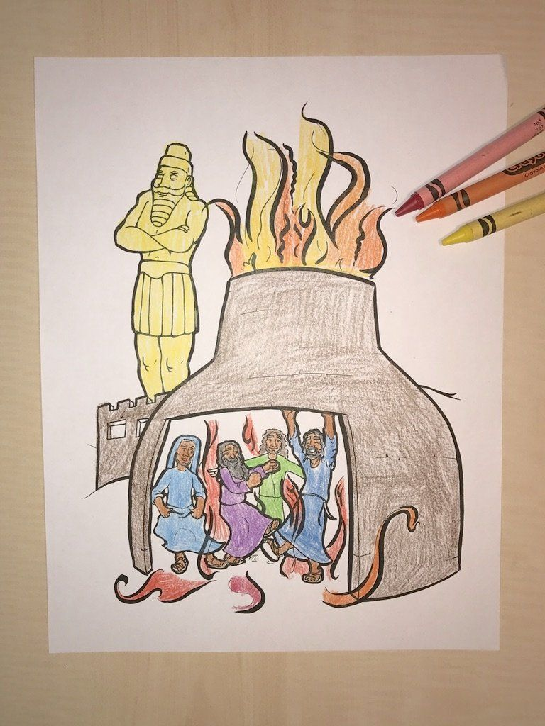 FREE Fiery Furnace Coloring Page – Children\'s Ministry Deals ...