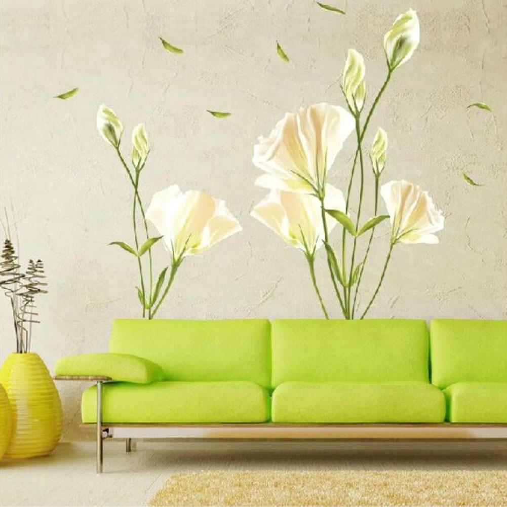Aliexpress.com : Buy Vinyl Wall Decal Stickers Lily Flowers Mural ...