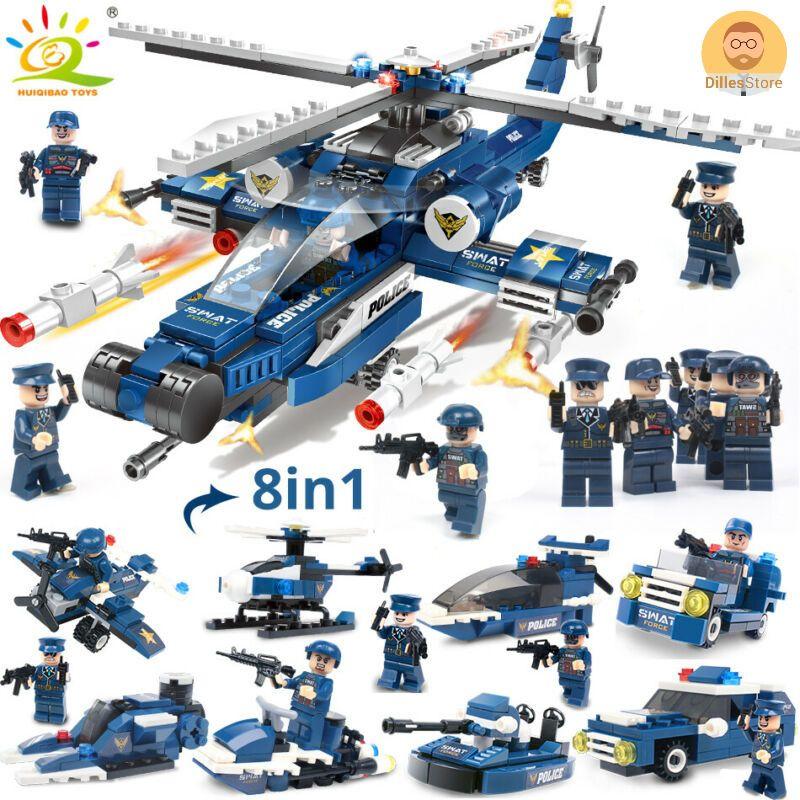Transformer Police Team Building Bricks Block Set Model Car Robot Toy christmas