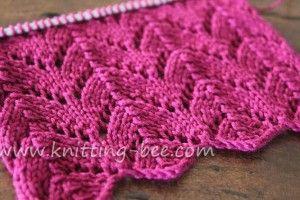 Knitting Lace Patterns Free : Horseshoe lace knitting stitch knit knook crochet