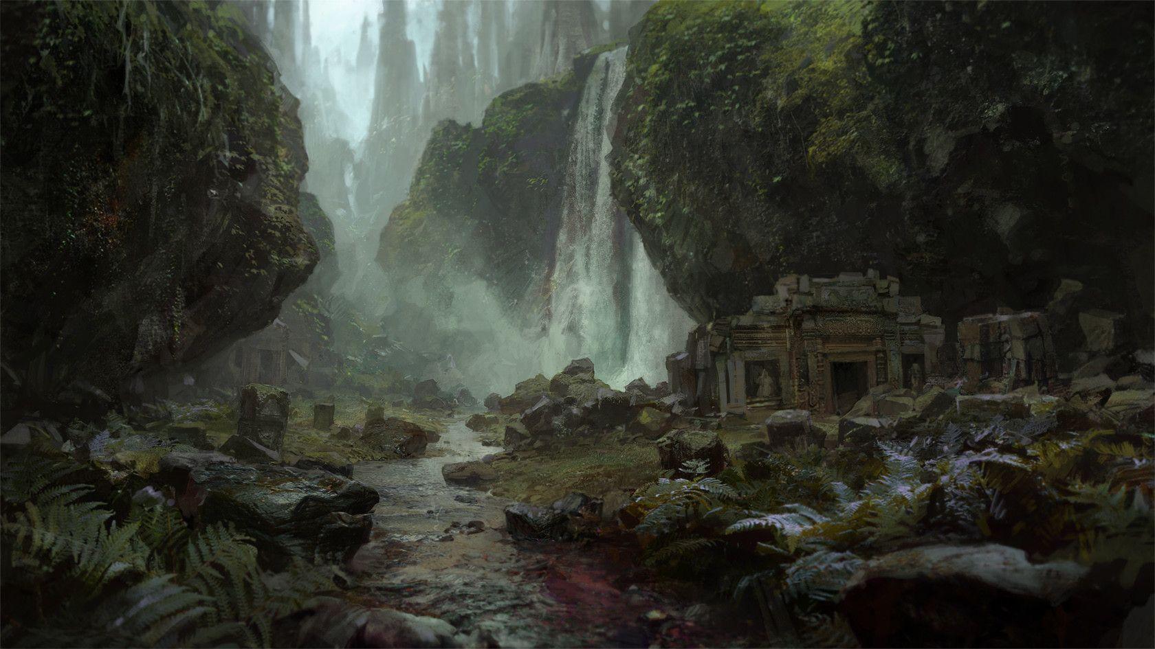 ArtStation - Path of Exile loading screens, Tomas Honz