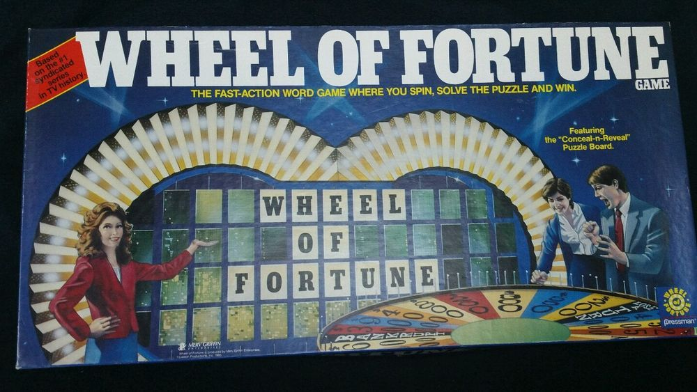 Vintage Wheel of Fortune Game by Pressman 1985 edition