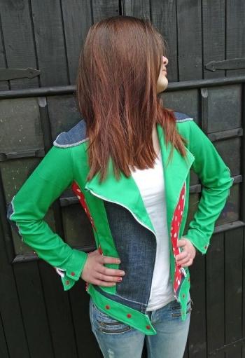 Jeansjacke oder Bikerjacke für Damen selber nähen - Schnittmuster ...