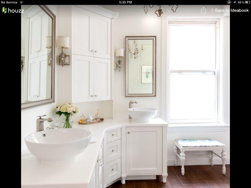 Houzz - corner vanity idea | Bathrooms | Pinterest | Corner vanity ...