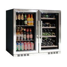 72 Large Wine And Beverage Cooler Drinks Combo With Clear Door Wine Beer Wine Cooler Fridge Wine Fridge