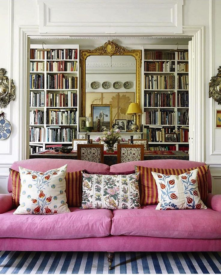 Home Librarydesign Ideas:  Home Library By Carolina Irving ???? #book #books