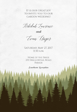 Magical Forest Wedding Invitation Template Free Greetings Island Forest Wedding Invitations Tree Wedding Invitations Forest Invitation