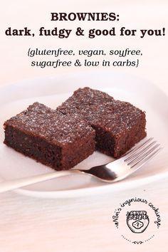 Dark, fudgy & nutritious: #chocolate zucchini #brownies, reinvented ( #glutenfree, #dairyfree, #vegan, #lowcarb)