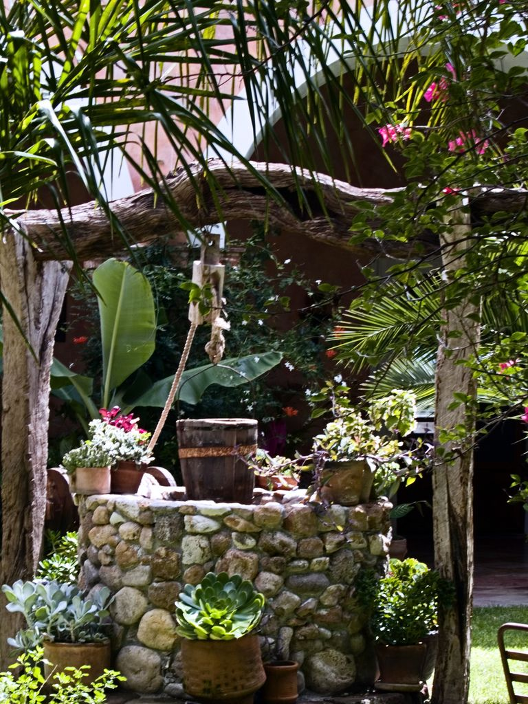 Garden designs with bridges and wishing wells landscaping ideas - Secret Garden Wishing Well