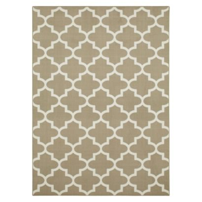 LIVING ROOM - Maples Fretwork Area Rug - 5 x 7 - Tan - $80. http ...