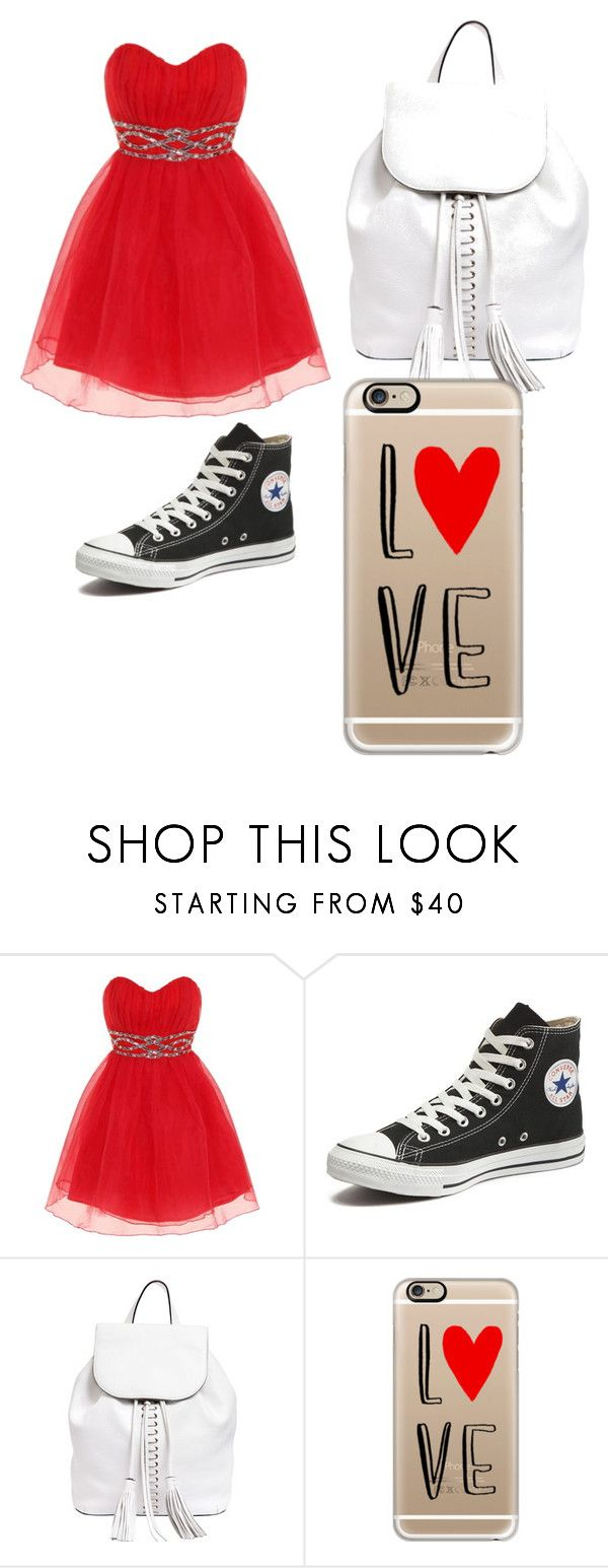 """To Aaliyah tots you"" by cecibo ❤ liked on Polyvore featuring beauty, Dorothy Perkins, Converse, Rebecca Minkoff and Casetify"