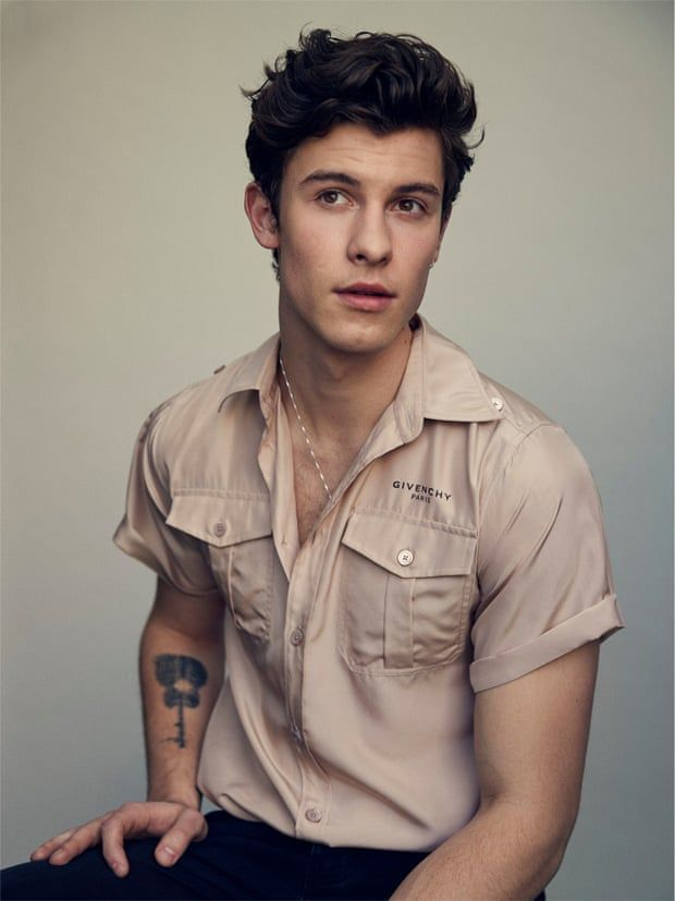'Your career isn't over if people think you're not perfect': Shawn wears a shirt and trousers by givenchy.com.