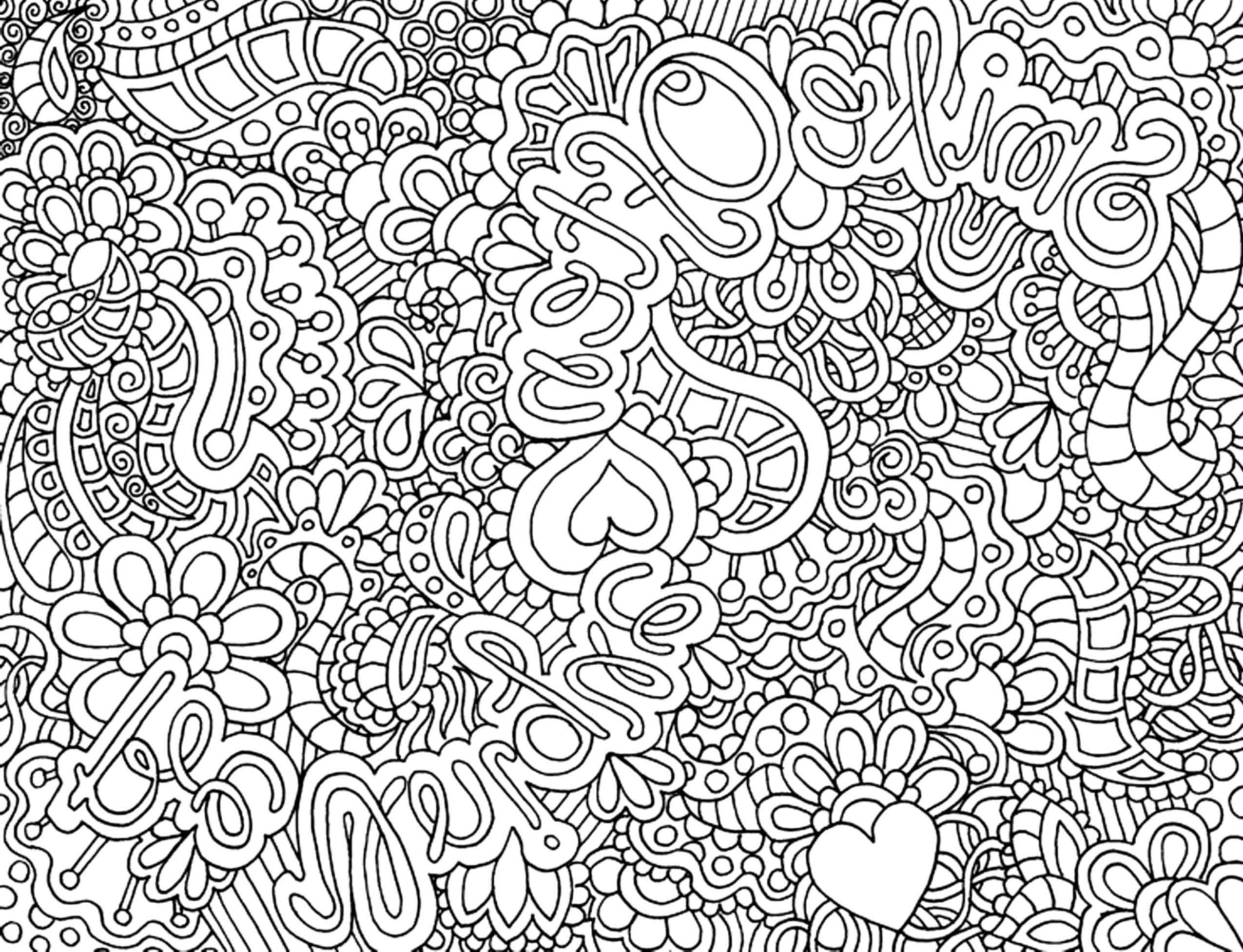 Complex Coloring Pages For Teenagers With Images
