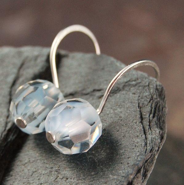 Ice Blue Swarovski crystal earrings  on sale $15.95