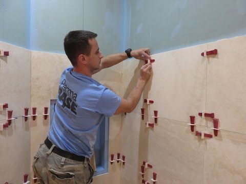 Part 1 Travertine Tiles Installation On Shower Walls Step By