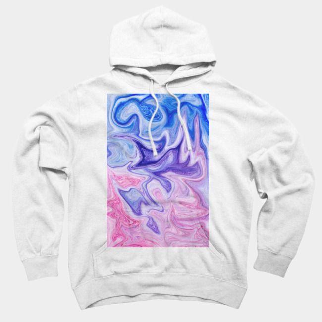 367864ac Pink Violet Purple Abstract Marble Watercolor Sweatshirt | Women's ...