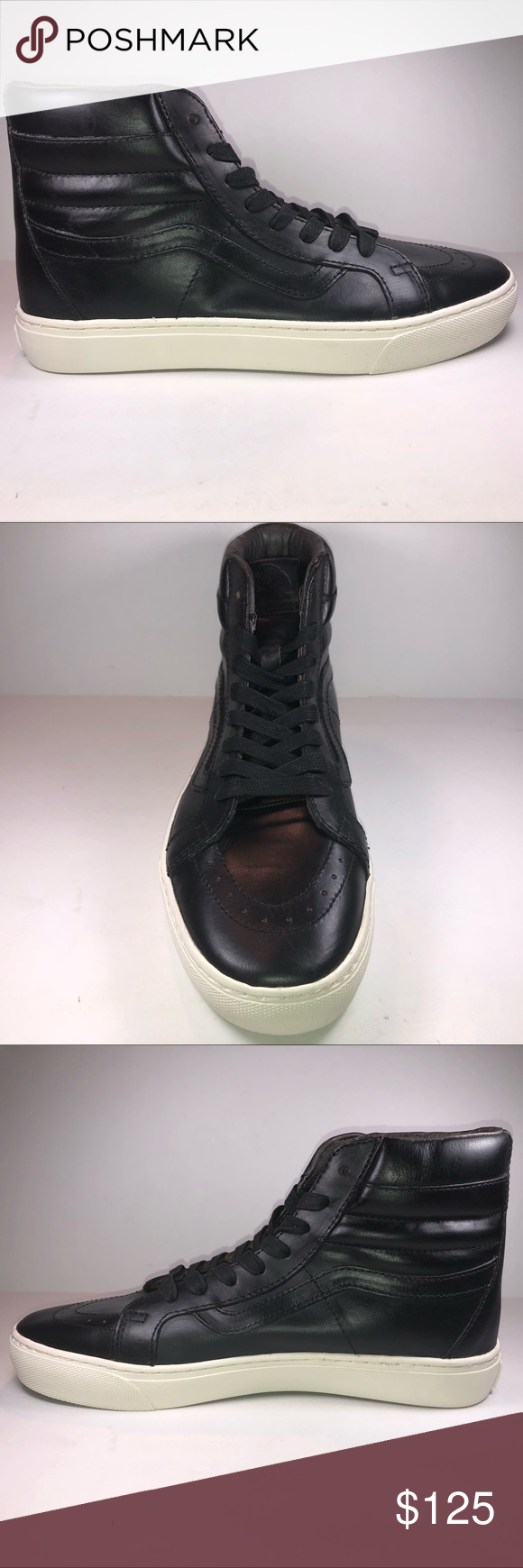 7674b0d979f097 Spotted while shopping on Poshmark  Vans SK8 Hi Cup LX Horween Leather Black  Sneakers!  poshmark  fashion  shopping  style  Vans  Other