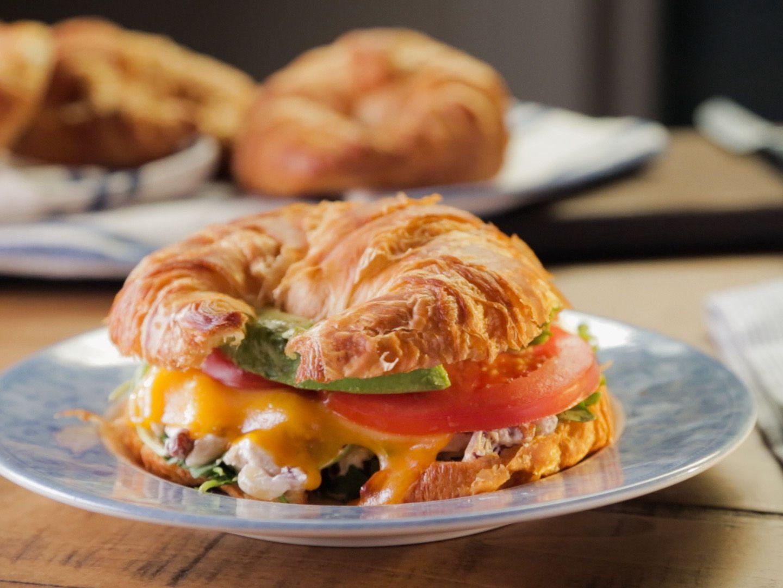 Chicken Salad Avocado And Cheddar Panini Recipe Food Network Recipes Trisha Yearwood Recipes Chicken Salad Recipes
