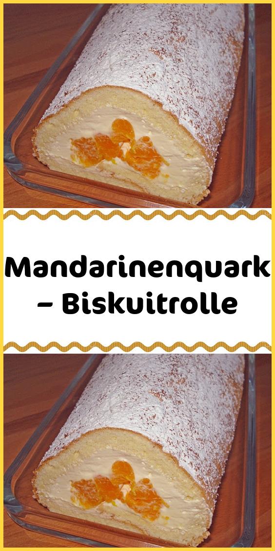 Mandarinenquark – Biskuitrolle #schokokuchen