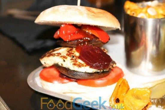 Halloumi Burger & Smoked Mac 'N' Cheese At BrewDog, Manchester.