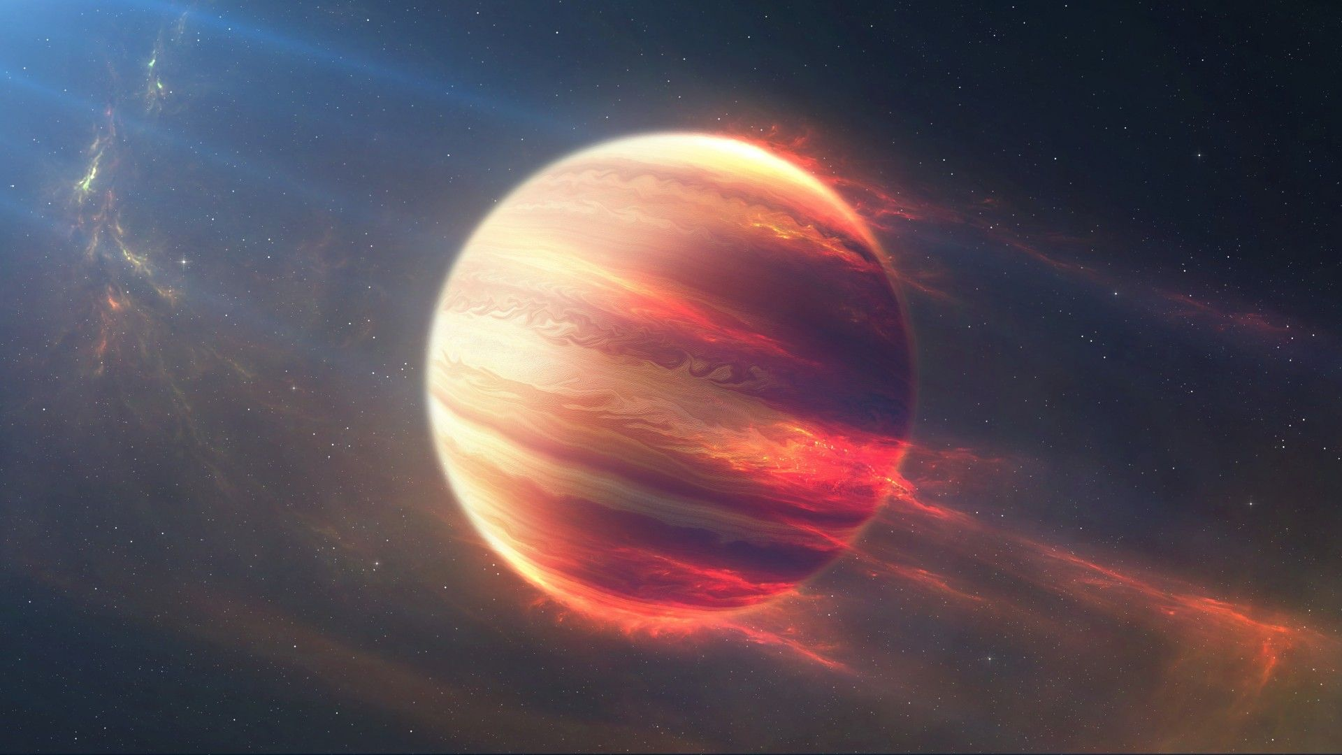 Download Wallpapers Of Planet Fire 4k Space 3024