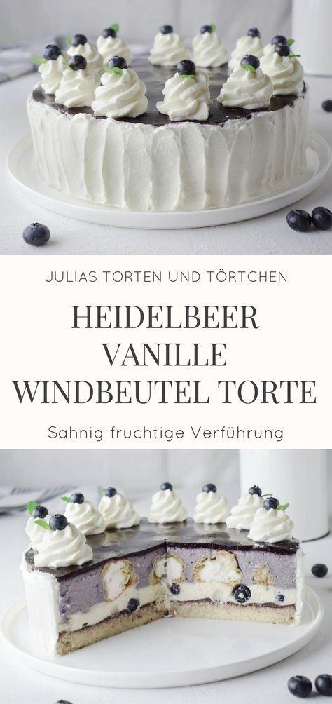 Heidelbeer Vanille Windbeutel Torte - Was ganz besonderes!
