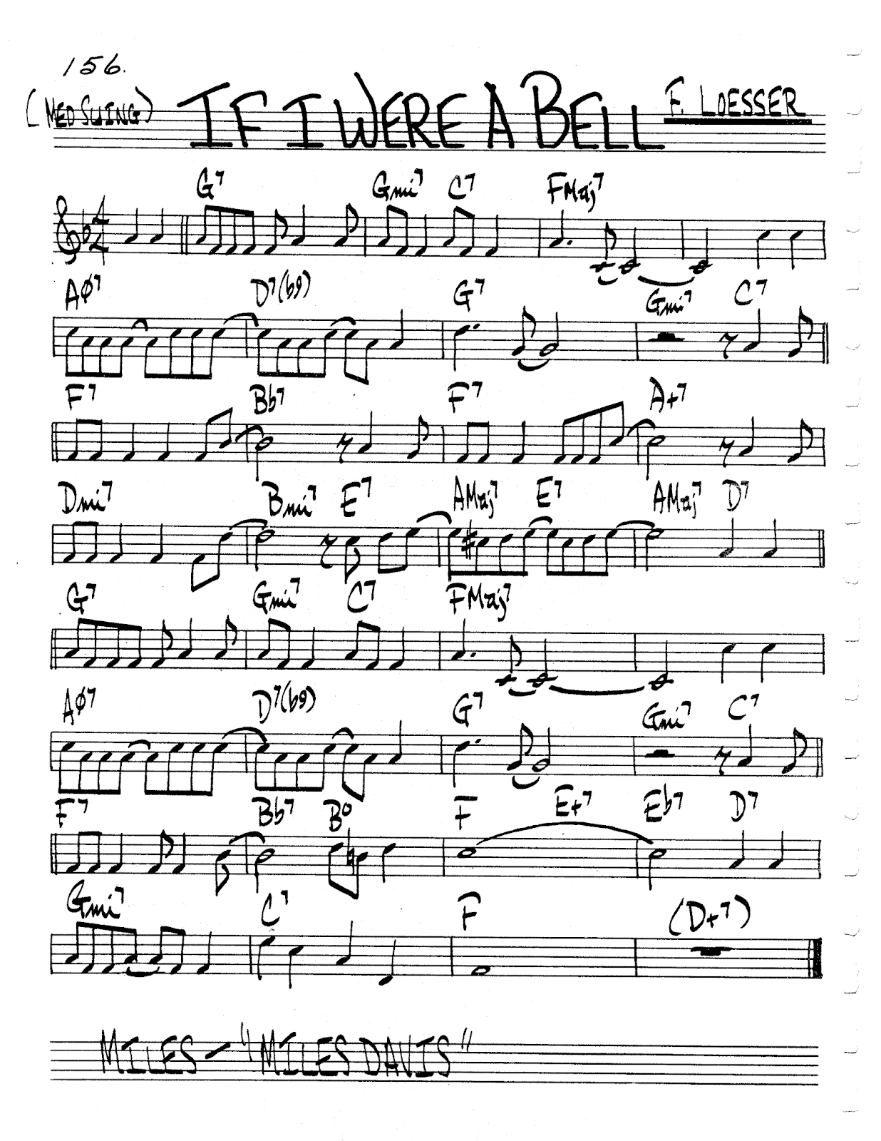 Practice Jazz Jazz Real Book Ii Page 156 If I Were A Bell Frank Loesser Jazz Standard Sheet Music Sheet Music Jazz Standard Jazz