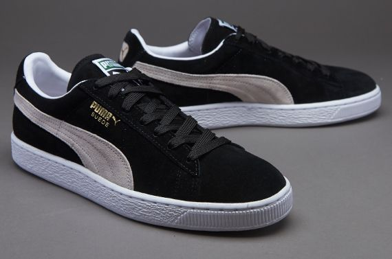 4089fea9fbf76 Puma Suede Classic Eco Mens Shoes - Black-White