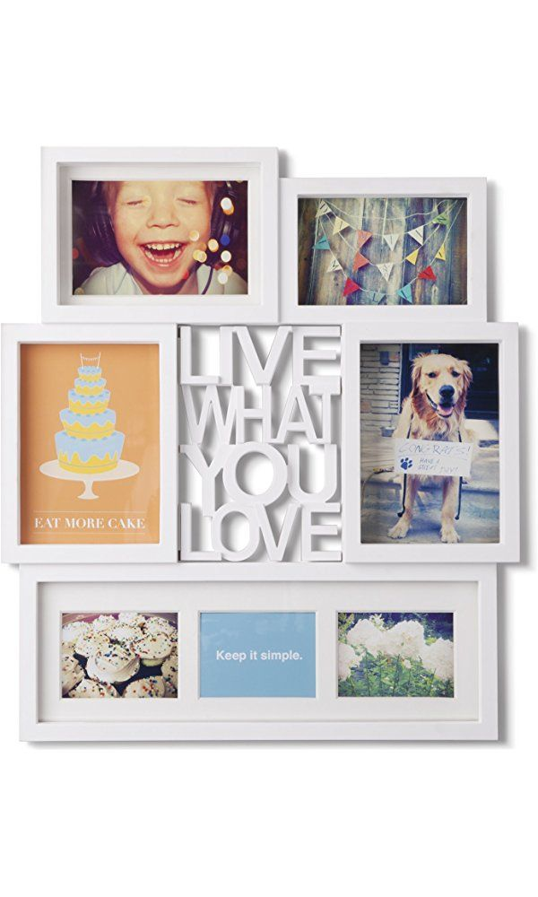 Umbra Motto Collage Wall Frame, White Best Price | Home Products and ...