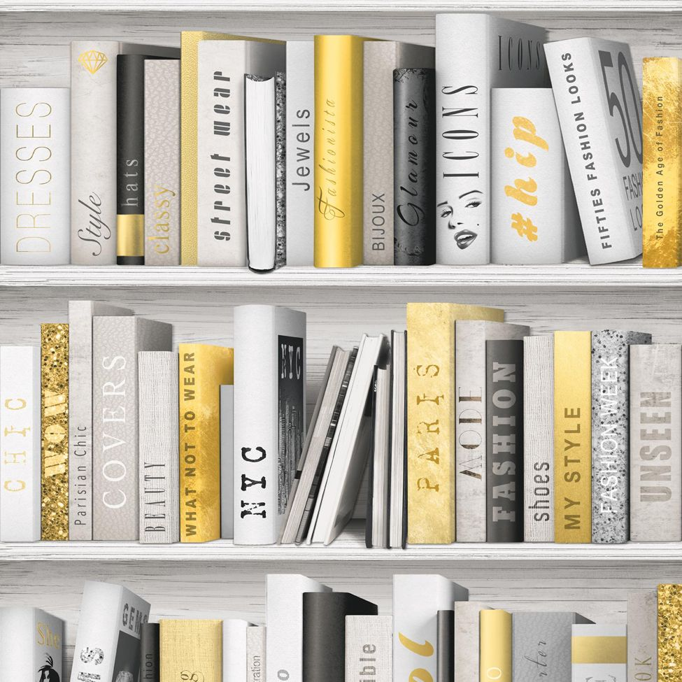 Modern Wallpaper Fashion Library Muriva L10702 - http://www.muriva ...