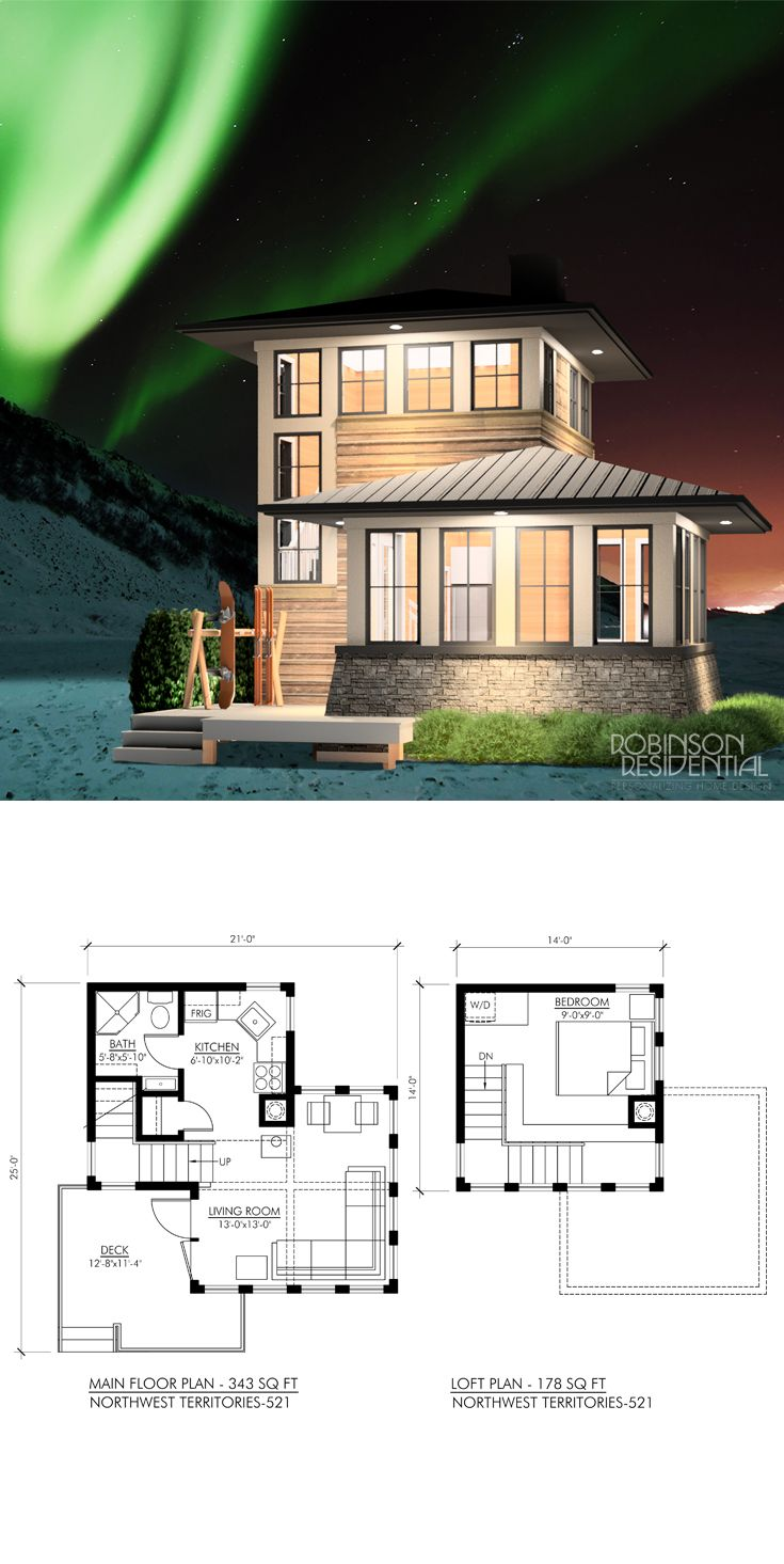 Northwest Territories 539 Robinson Plans Small House House Plans Tiny House Plans