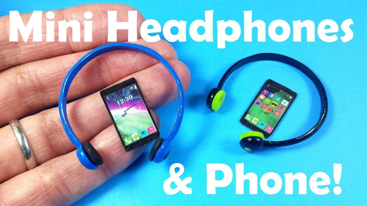 DIY Miniature Doll Headphones & Cell Phone