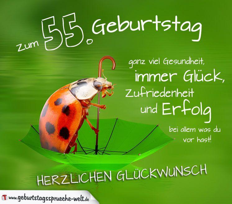 55 Geburtstag Karte Herzlichen Gluckwunsch Geburtstagsspruche