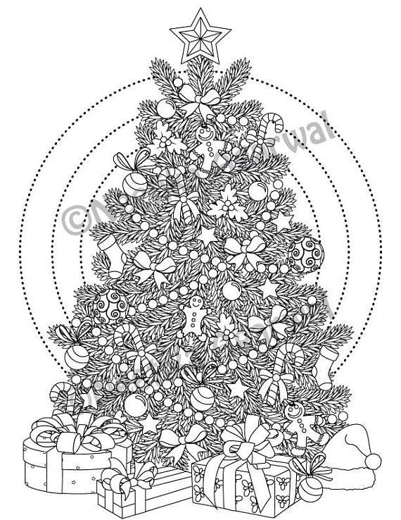 Christmas Tree Free Printable Coloring Page Christmas Tree