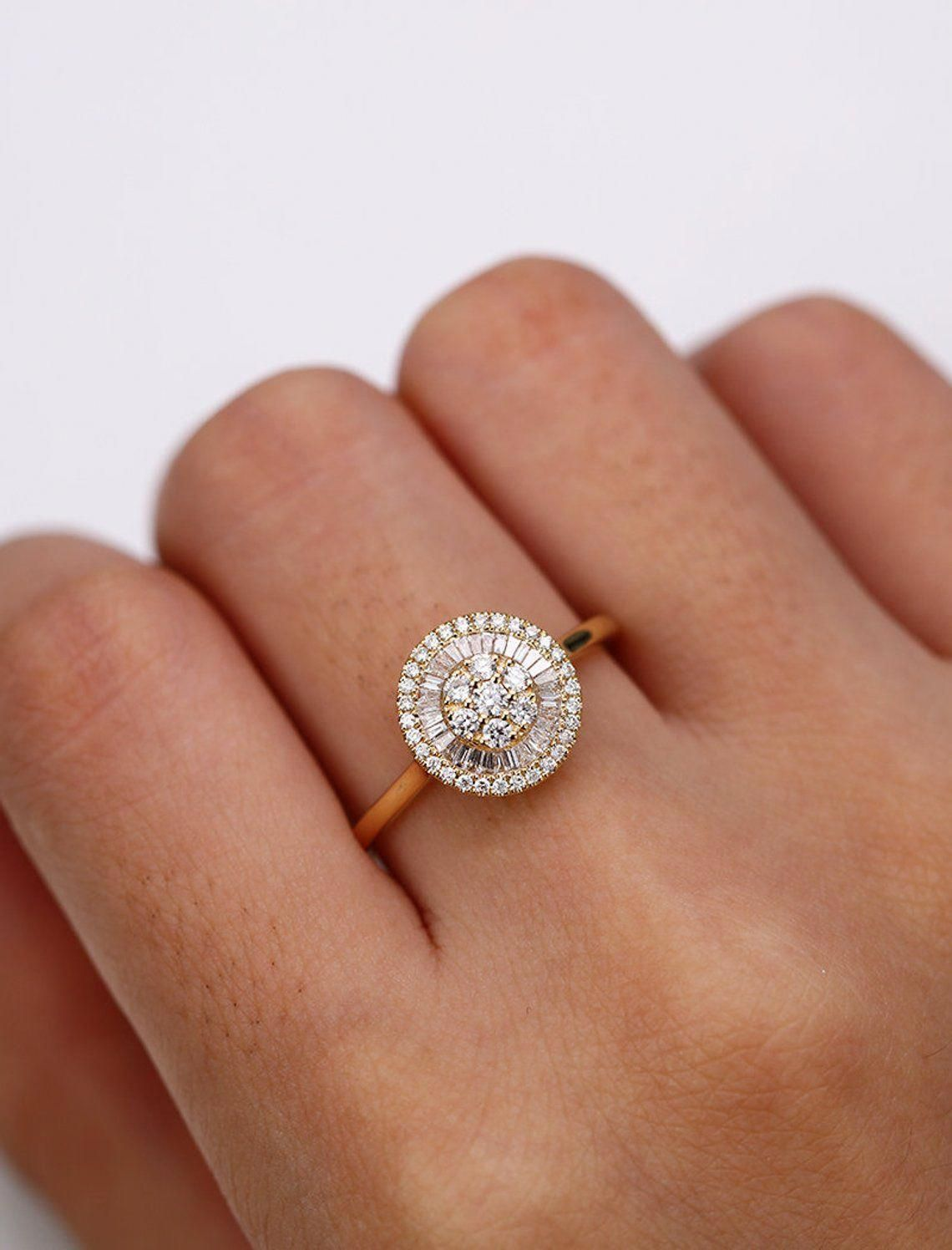Natural topaz engagement ring 14k rose gold diamond