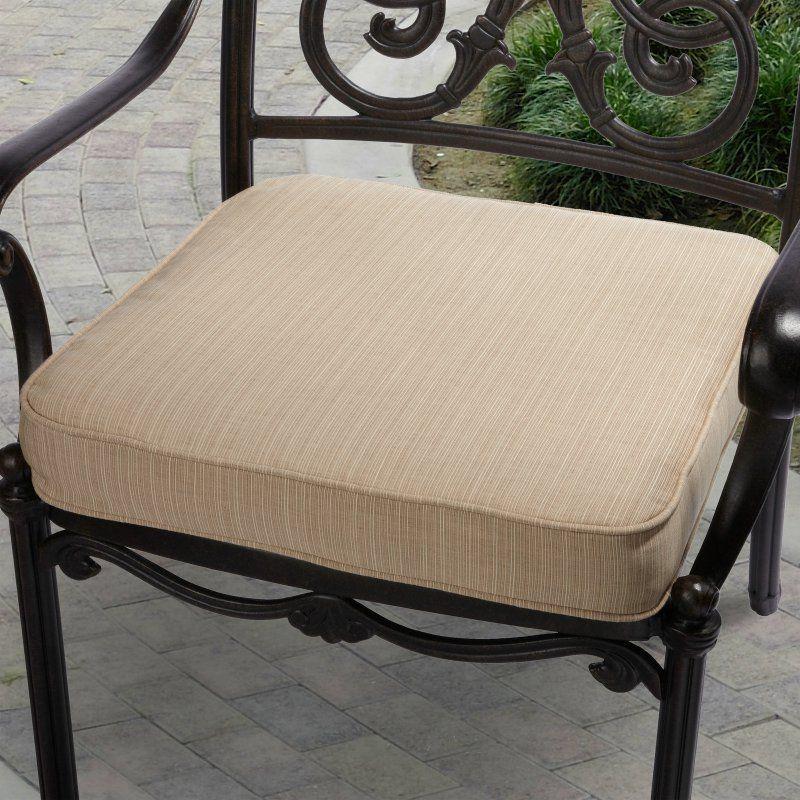Mozaic Company 22.5 x 22.5 Sunbrella Solid Outdoor Square Deep Seat Patio Chair Cushion Dupione Sand - HNCS0200