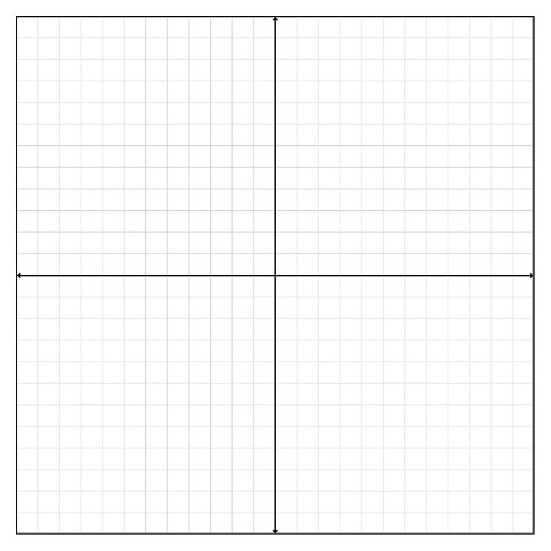 Graph Paper Stickers - Numbered Axis (500 Stickers), Great