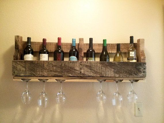 pallet wine glass rack. Pallet Wine Rack And Glass Holder Is Great To By EcoFurnishings