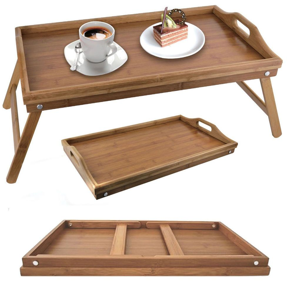 Superieur FOLDING BAMBOO WOODEN BREAKFAST SERVING LAP TRAY OVER BED TABLE WITH LEGS |  EBay       £11.90       Donu0027t Need It Straight Away But Would Love Two Of  These!
