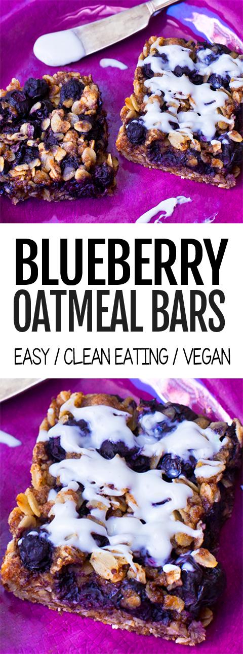 Photo of Homemade Blueberry Oatmeal Bars!