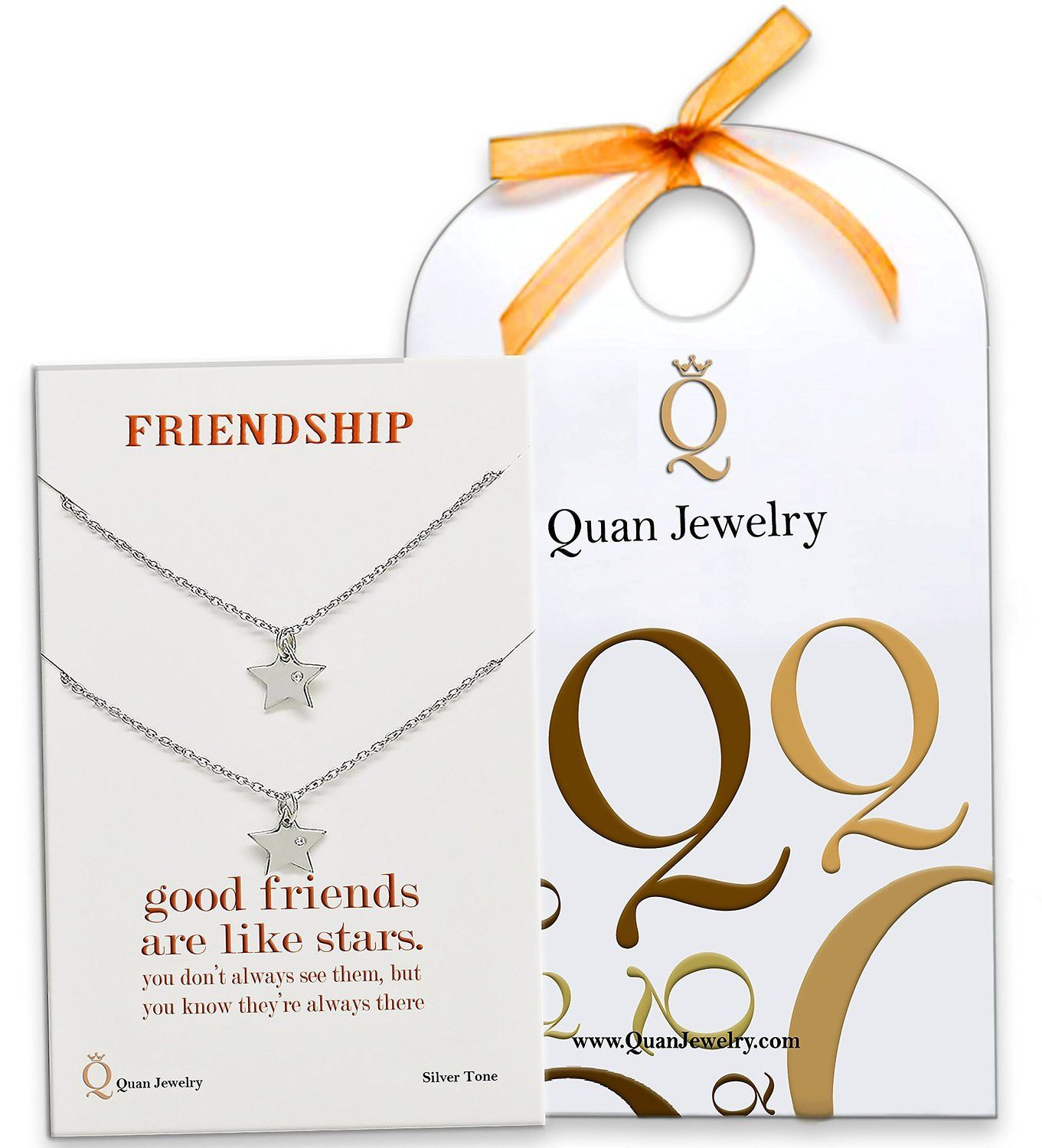 Macy Friendship Necklace with Matching Star Pendant