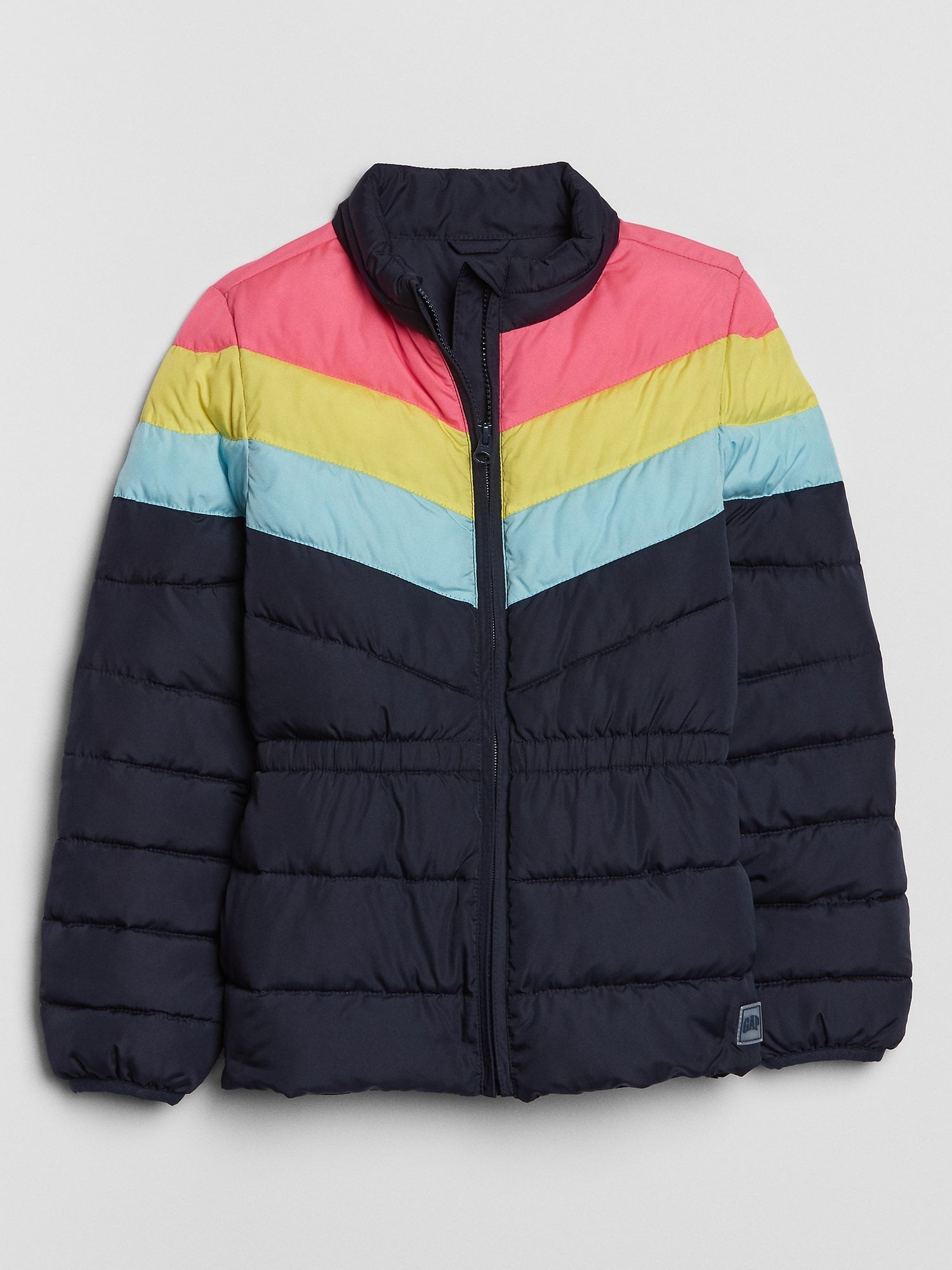 Kids Colorblock Puffer Jacket Gap Factory Jackets Puffer Jackets Winter Jackets [ 2000 x 1500 Pixel ]