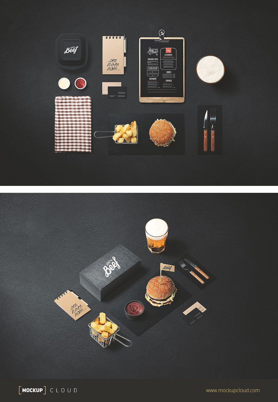 Burger Store Mockup Creator Burger Packaging Mockup Creator Branding Shop