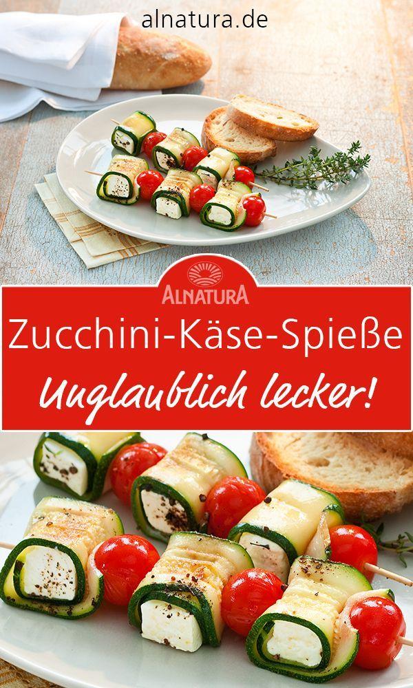 Zucchini-Käse-Spieße #vegetariangrilling