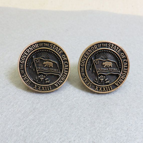 California State Seal Cufflinks