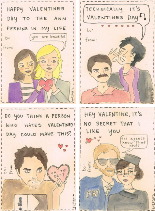 Parks and Rec Valentines
